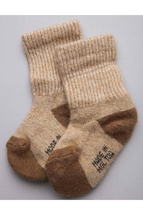 Детские носки из монгольской шерсти бежевые
