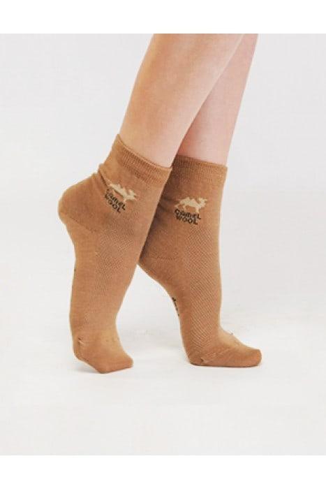Носки из верблюжьей шерсти, коричневые