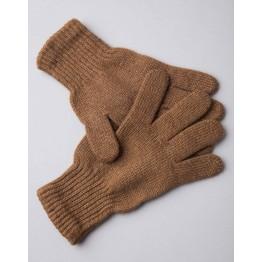 Перчатки из монгольской шерсти коричневый натуральный