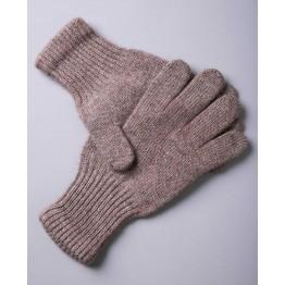 Перчатки из монгольской шерсти коричневые