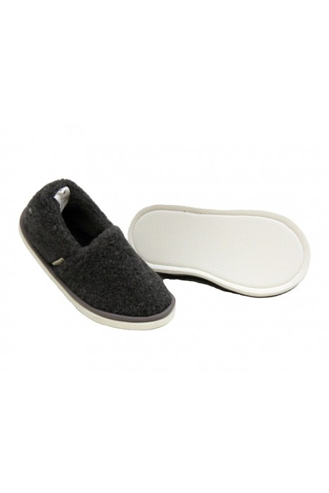 Тапочки-туфли из шерсти графит