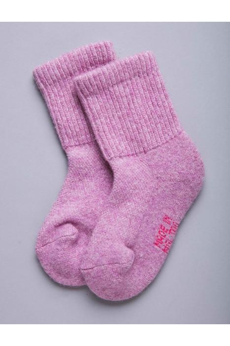 Детские носки из монгольской шерсти розовые