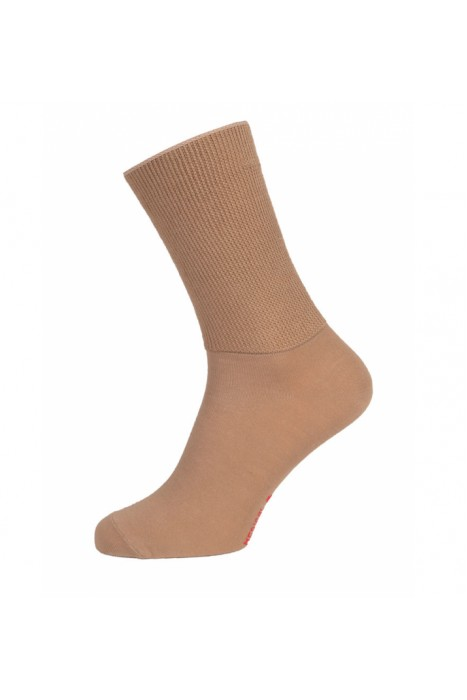 Носки из хлопка на полную ногу Doctor TM бежевые