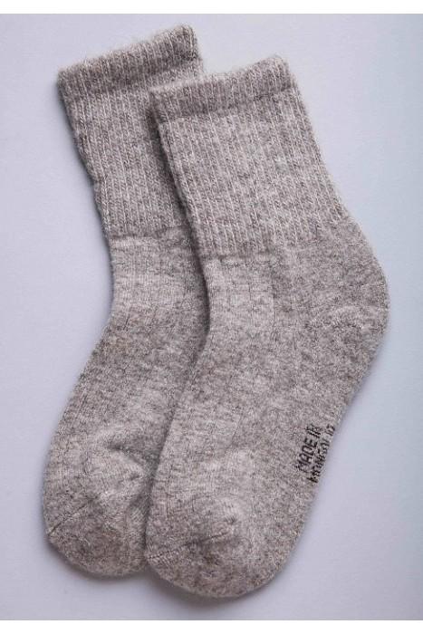Носки из 100% монгольской шерсти серые