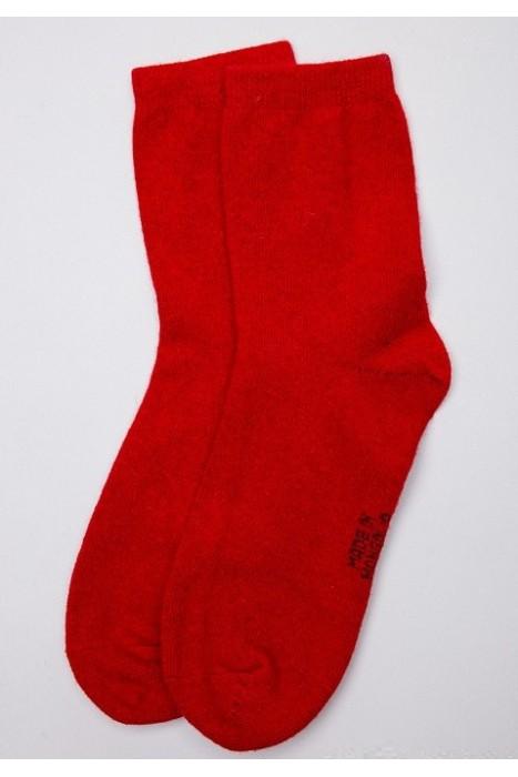 Носки из монгольской шерсти облегченные красные