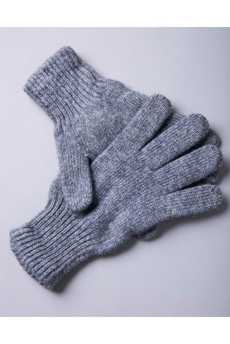 Перчатки из монгольской шерсти серые