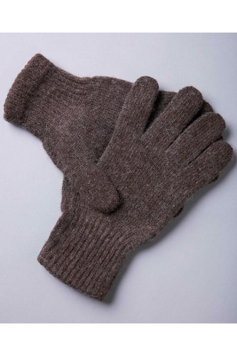 Перчатки из монгольской шерсти цвет шоколадный
