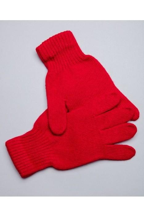 Перчатки из монгольской шерсти красные