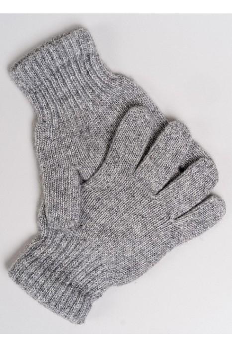 Детские перчатки из монгольской шерсти серые