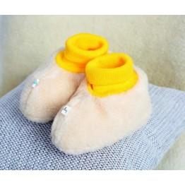 Пинетки-носочки из шерсти / желтый