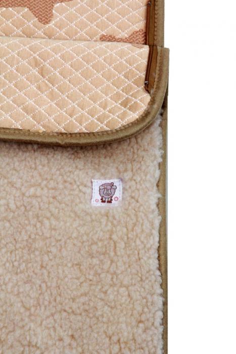 Облегчённый конверт из шерсти ламы
