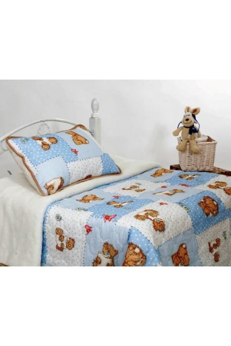 """Детское одеяло из овечьей шерсти """"Мой медвежонок"""" 140х100, 145х200"""