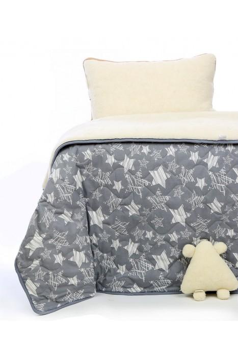 """Детское одеяло из овечьей шерсти """"Звездное"""" 140х100, 140х200"""