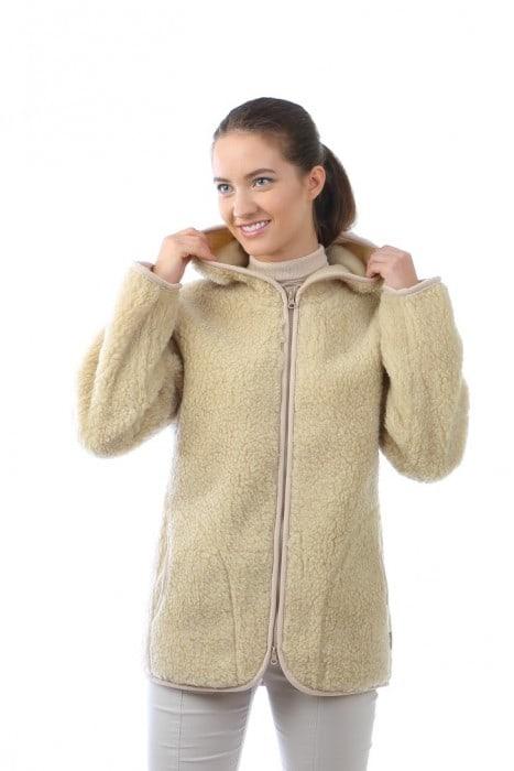 Куртка из шерсти КАТАРИНА беж облегченная