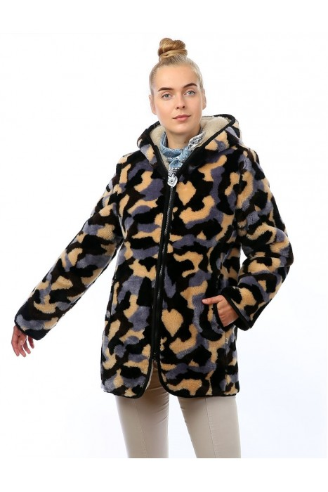 Куртка двойная СКАНДИ КАМУФЛЯЖ СЕРЫЙ женская
