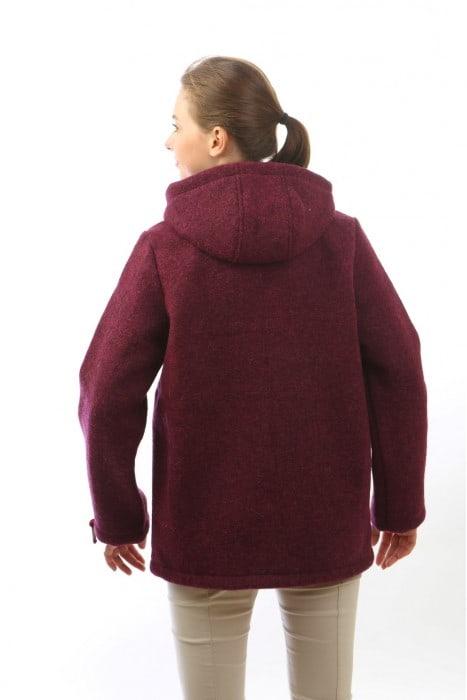 Куртка из шерсти МЕГА вишня облегченная