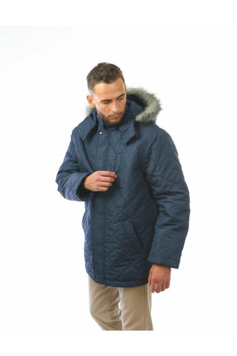Куртка двойная АЛЯСКА тёмный синий