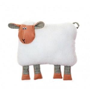"""Подушка-игрушка из овечьей шерсти """"Овечка Нюша"""" 30х40"""