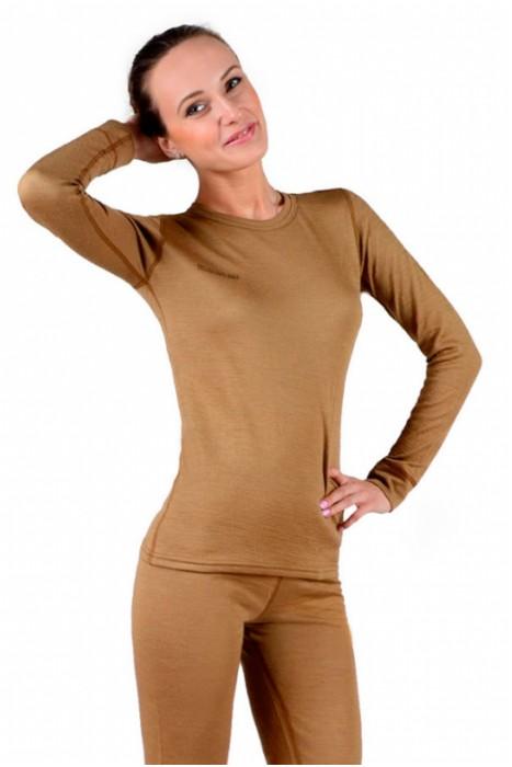 """Термобелье TM """"Chu-Ga-Da""""- фуфайка женская двухслойная из верблюжьей шерсти и волокон кофе"""