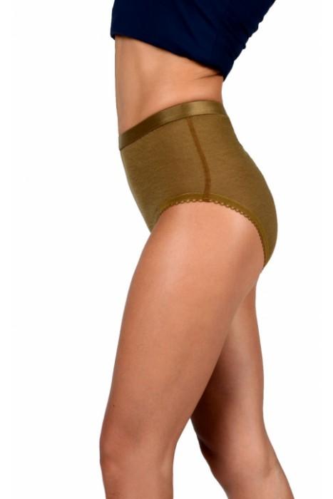 Согревающее белье Doctor TM - трусы женские из верблюжьей шерсти с высокой талией