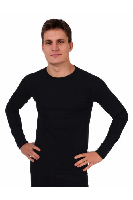 """Термобелье TM """"Chu-Ga-Da"""" - фуфайка мужская двухслойная из шерсти мериноса и волокон кофе цвет черный"""