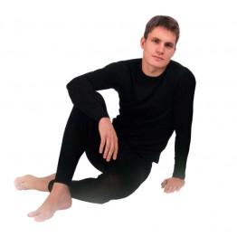 """Термобелье TM """"Chu-Ga-Da"""" - кальсоны мужские двухслойные из шерсти мериноса и волокон кофе цвет черный"""